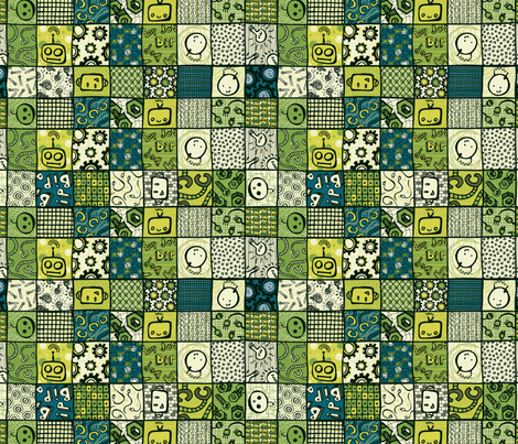 Bip Bip Bop Bip fabric by noaleco on Spoonflower - custom fabric