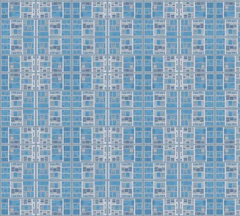 Limestone Blocks in Blue © Gingezel™ 2012 fabric by gingezel on Spoonflower - custom fabric