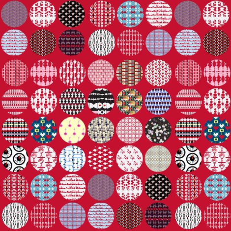 Penny Cheater on Red fabric by boris_thumbkin on Spoonflower - custom fabric