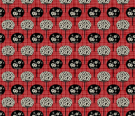 Fun Fan Fun / Red fabric by hoodiecrescent&stars on Spoonflower - custom fabric