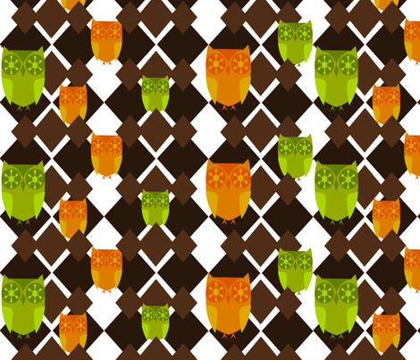 Peeping Owls fabric by ninjaauntsdesigns on Spoonflower - custom fabric
