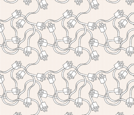robot-cables2 fabric by babysisterrae on Spoonflower - custom fabric