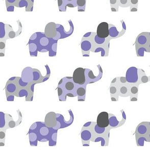 Ellie's Elephant Friends in Purple and Gray