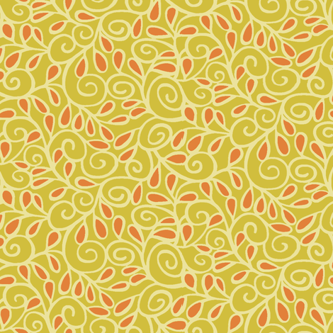 Step 'n Seed / Yellow fabric by hoodiecrescent&stars on Spoonflower - custom fabric