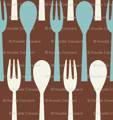 Spoon & Fork / Brown
