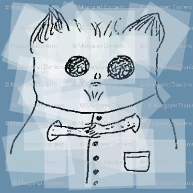 Hamster Wearing Vest Blue