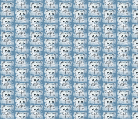 Hamster Wearing Vest Blue fabric by margaretdaniero on Spoonflower - custom fabric