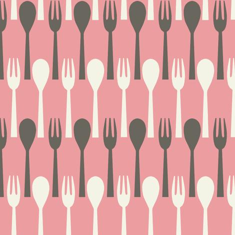 Spoon & Fork / Pink