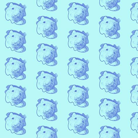 Hello Hammie Light Blue fabric by margaretdaniero on Spoonflower - custom fabric