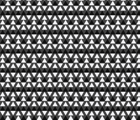 Black & White Triangles fabric by stoflab on Spoonflower - custom fabric