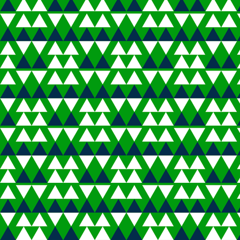 Blue & White Triangles on Green fabric by stoflab on Spoonflower - custom fabric