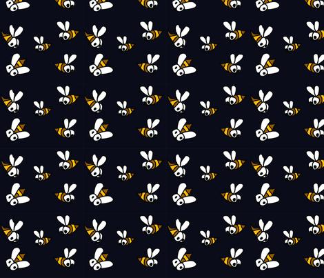 midnight_bees fabric by gurumania on Spoonflower - custom fabric