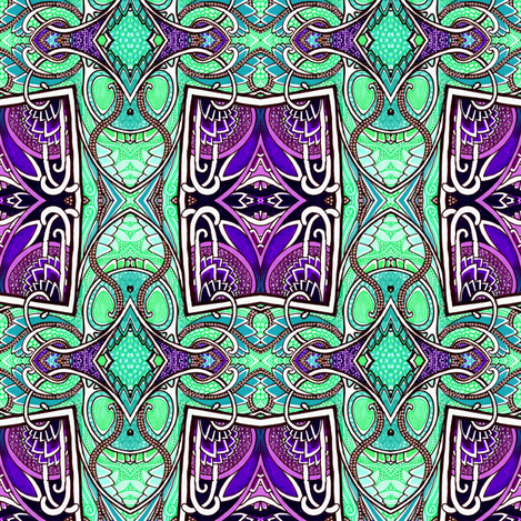 Magician's Cards fabric by edsel2084 on Spoonflower - custom fabric