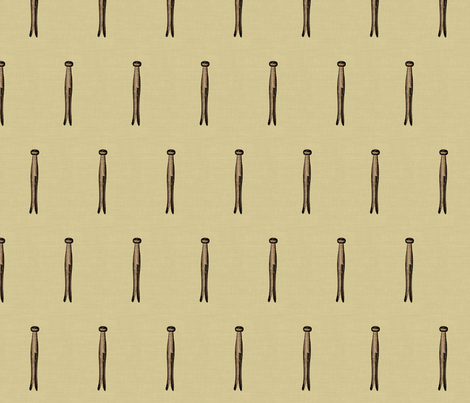 vintage clothespin fabric by eekamonster on Spoonflower - custom fabric