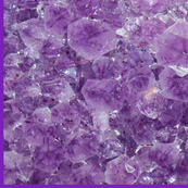 Amethyst cluster with border
