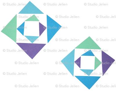 triangle purpleblue