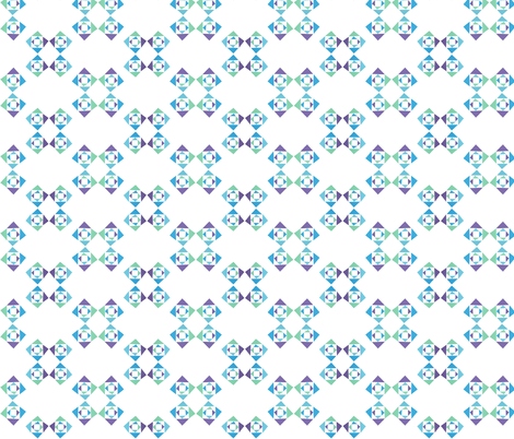 triangle purpleblue fabric by studiojelien on Spoonflower - custom fabric