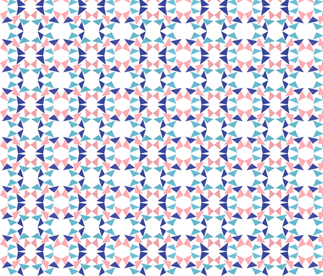 triangle pinkblue fabric by studiojelien on Spoonflower - custom fabric