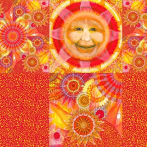 two sun pillow shams