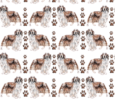Welsh Springer Spaniel fabric by dogdaze_ on Spoonflower - custom fabric