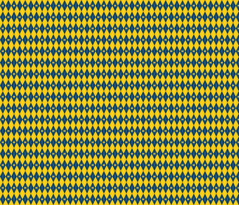 Argyle Blue and Maize fabric by joyfulrose on Spoonflower - custom fabric