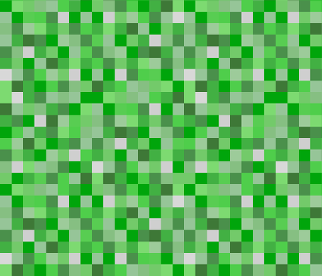 "Life-like Lighter Green Pixel Blocks - 1.5"" fabric by joyfulrose on Spoonflower - custom fabric"
