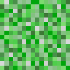 Green Pixel Blocks - Lighter, Life-like Greens