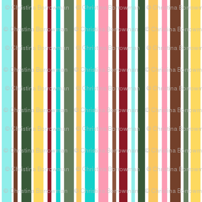 Cupcakes and Swirls Collection - Rainbow Stripes by JoyfulRose