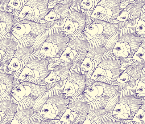 Ryukin Blue fabric by bonsaimechagirl on Spoonflower - custom fabric