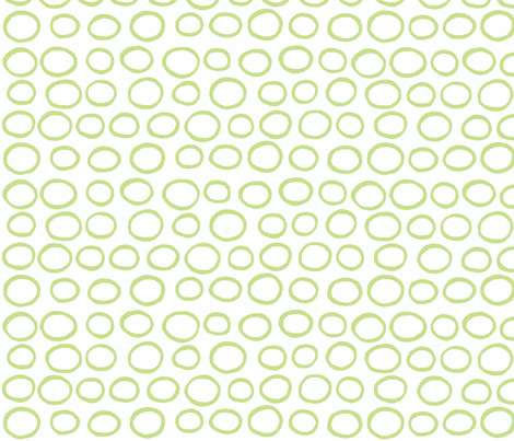 Wobbly peas (lime) fabric by pattyryboltdesigns on Spoonflower - custom fabric