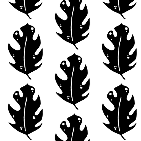 funky leaf 4 fabric by pattyryboltdesigns on Spoonflower - custom fabric