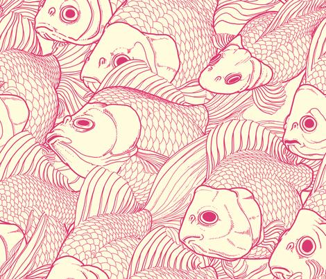 Ryukin Pink Large fabric by bonsaimechagirl on Spoonflower - custom fabric