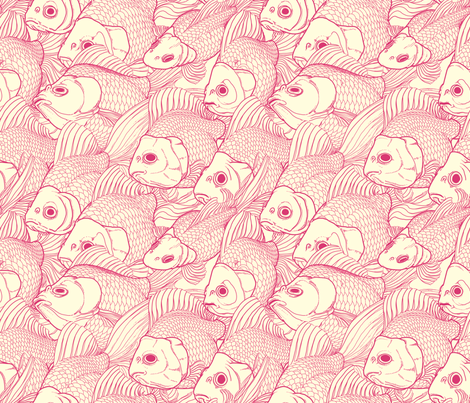 Ryukin Pink fabric by bonsaimechagirl on Spoonflower - custom fabric