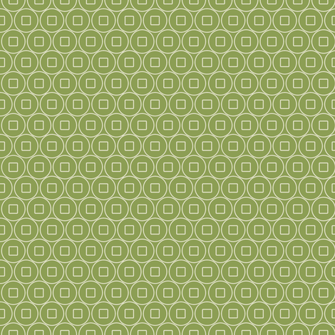 Geo_coin_Jade fabric by hoodiecrescent&stars on Spoonflower - custom fabric