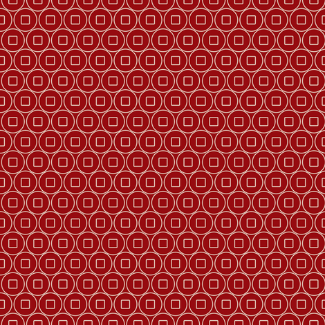 Geo_coin_red fabric by hoodiecrescent&stars on Spoonflower - custom fabric