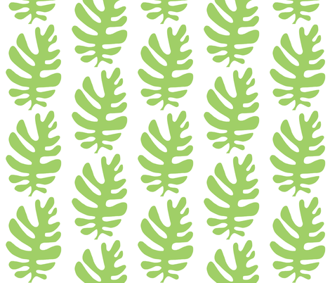 Funky Leaf  (green & white) fabric by pattyryboltdesigns on Spoonflower - custom fabric