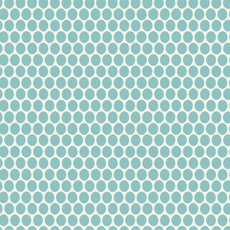 Egg Dot / Aqua fabric by hoodiecrescent&stars on Spoonflower - custom fabric