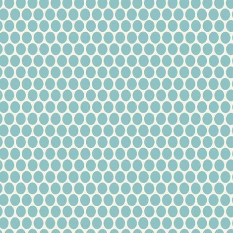 Egg Dot / Aqua fabric by hoodiecrescent&stars on Spoonflower - custom fabric