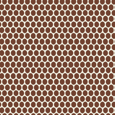 Egg dot / Coffee fabric by hoodiecrescent&stars on Spoonflower - custom fabric