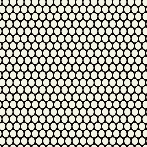 Egg Dot / Black & White fabric by hoodiecrescent&stars on Spoonflower - custom fabric