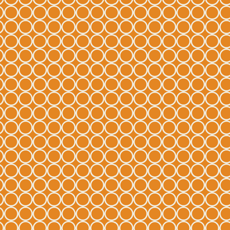 Hoop Dot / Orange fabric by hoodiecrescent&stars on Spoonflower - custom fabric