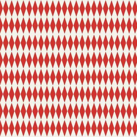 Diamond_check_red fabric by hoodiecrescent&stars on Spoonflower - custom fabric