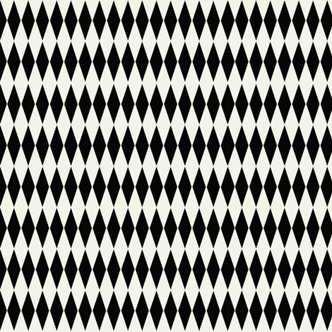 Diamond_check_Black fabric by hoodiecrescent&stars on Spoonflower - custom fabric