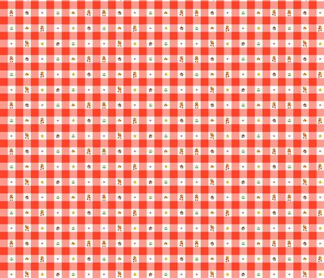 Red Marios1/2 inch ginham fabric by retropopsugar on Spoonflower - custom fabric