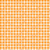 Orange Marios 1/2 inch gingham