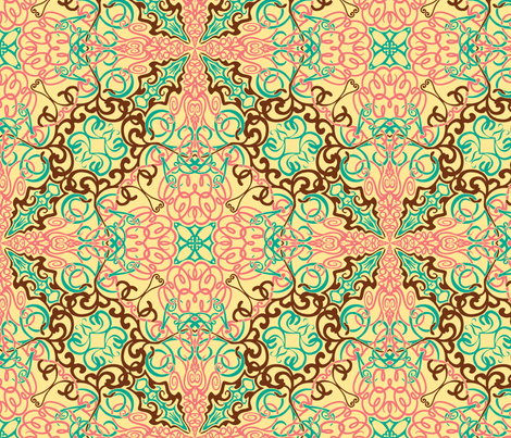 Intricate Arabesque fabric by leeleeandthebee on Spoonflower - custom fabric
