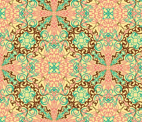 Intricate Arabesque fabric by leeleeandthebee on Spoonflower - custom fabric