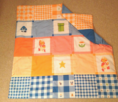 Mario Quilt Light Blue Block