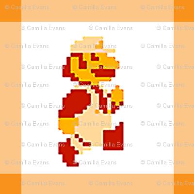 Orange Mario Quilt Runner!