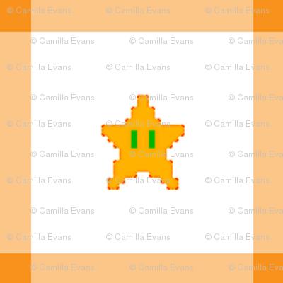 Orange Mario Quilt Star